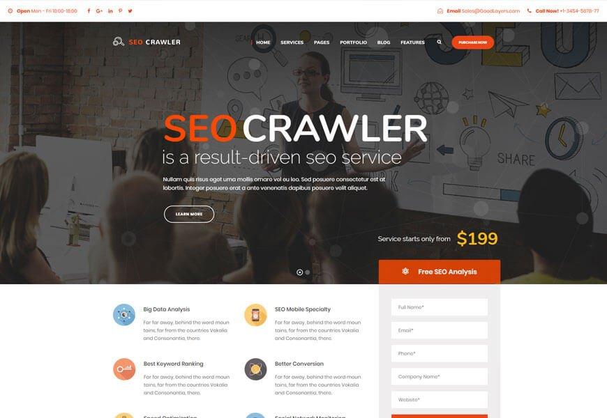 seo crawler seo website templates