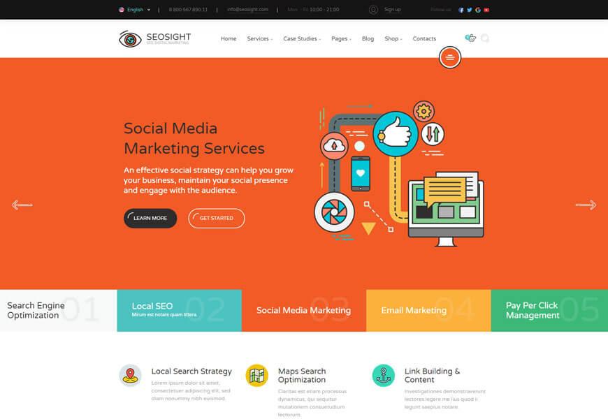 SEO Website Templates for seo agency