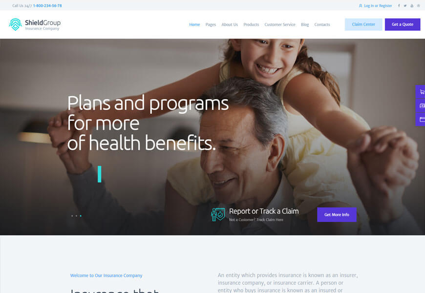 life insurance wordpress theme