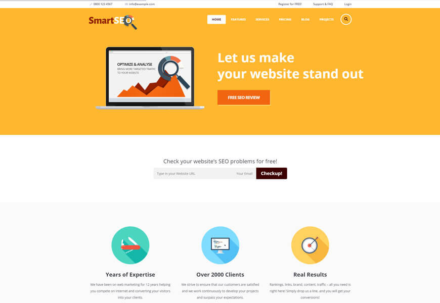 seo agency website templates