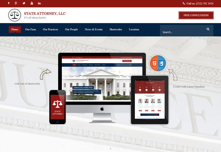 attorney and legal website templates