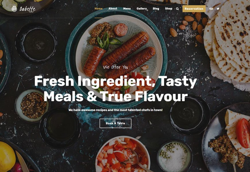 professional restaurant website templates