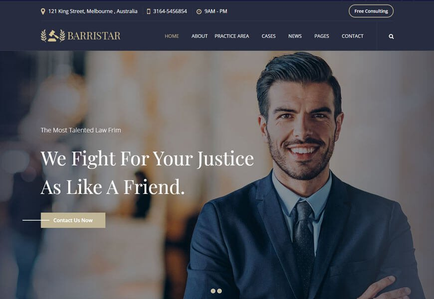 barrister website templates