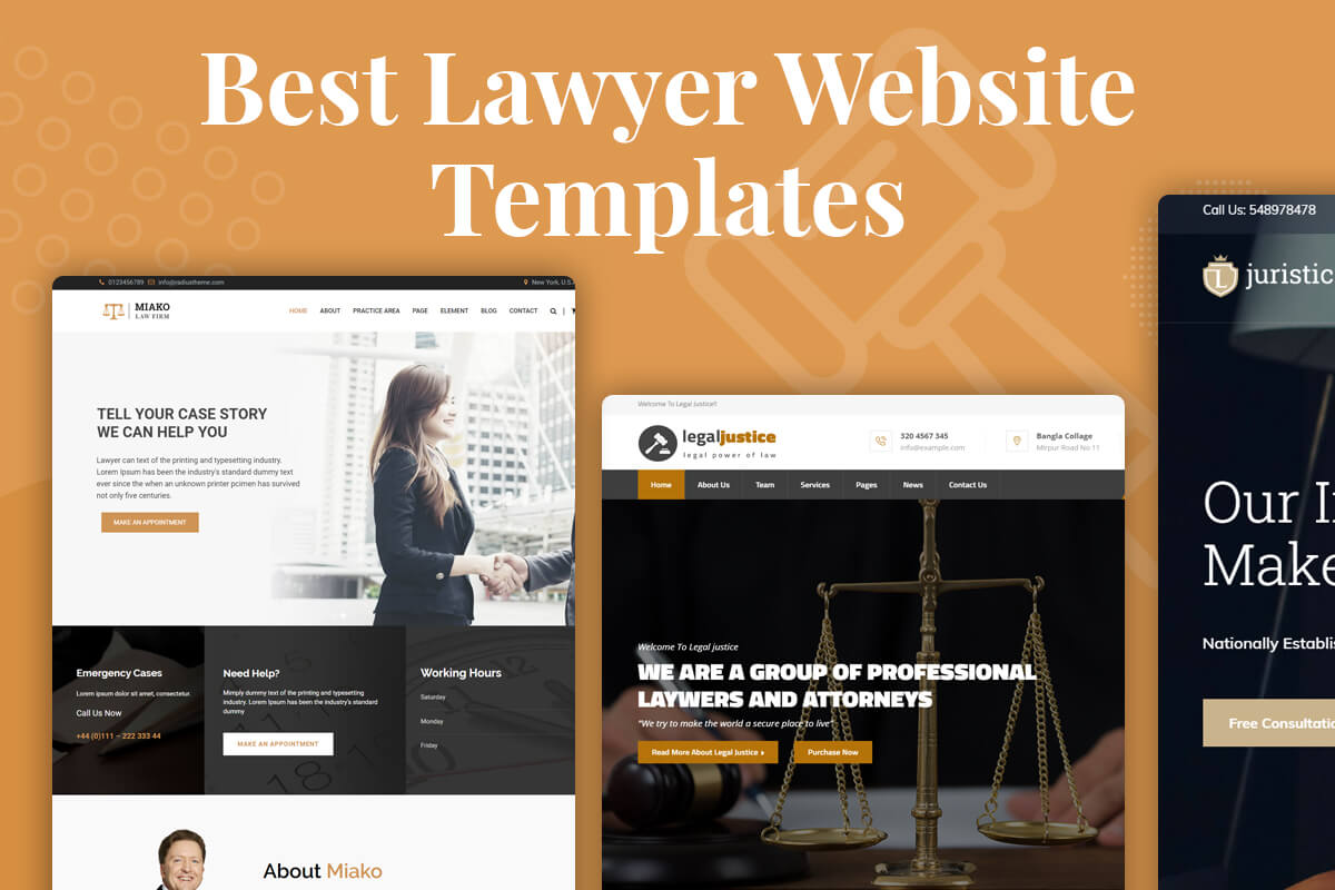 best lawyer and law firm website templates