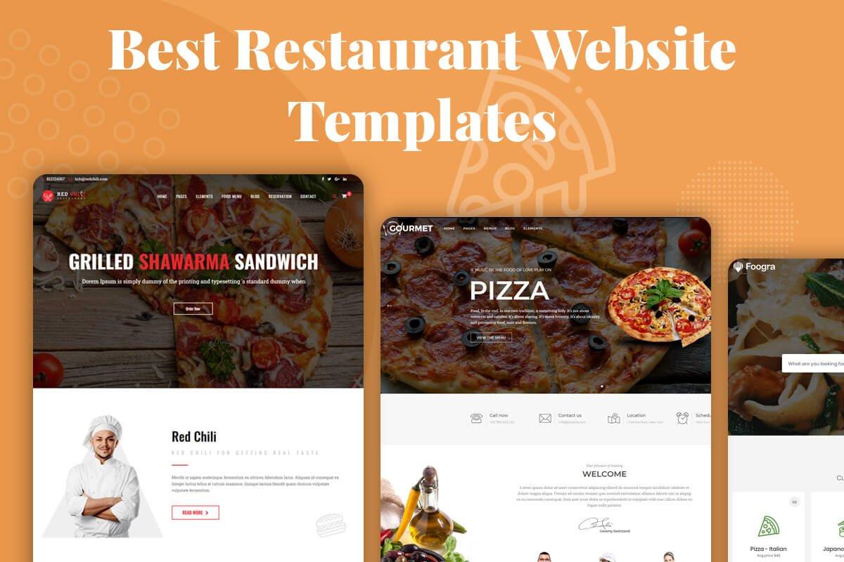 Best restaurant website templates