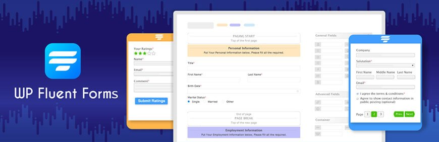 WP Fluent Forms is a sophisticated and user-friendly contact form plugin