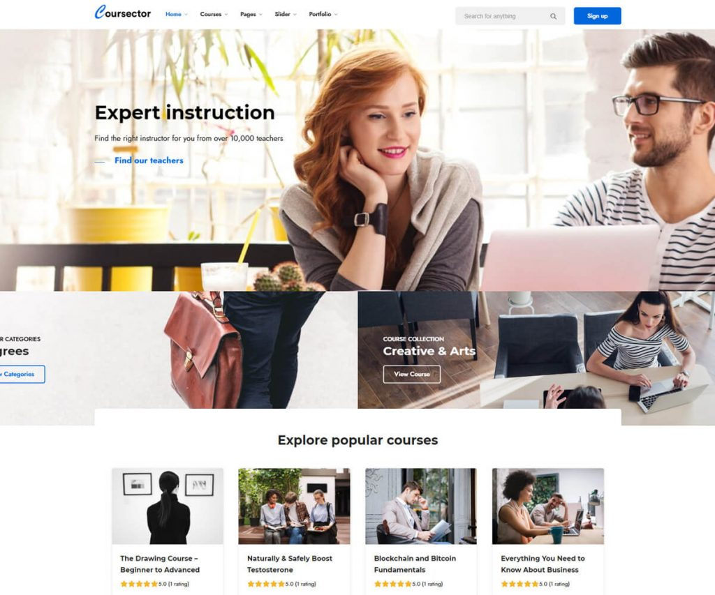 Coursector LMS WordPress themes