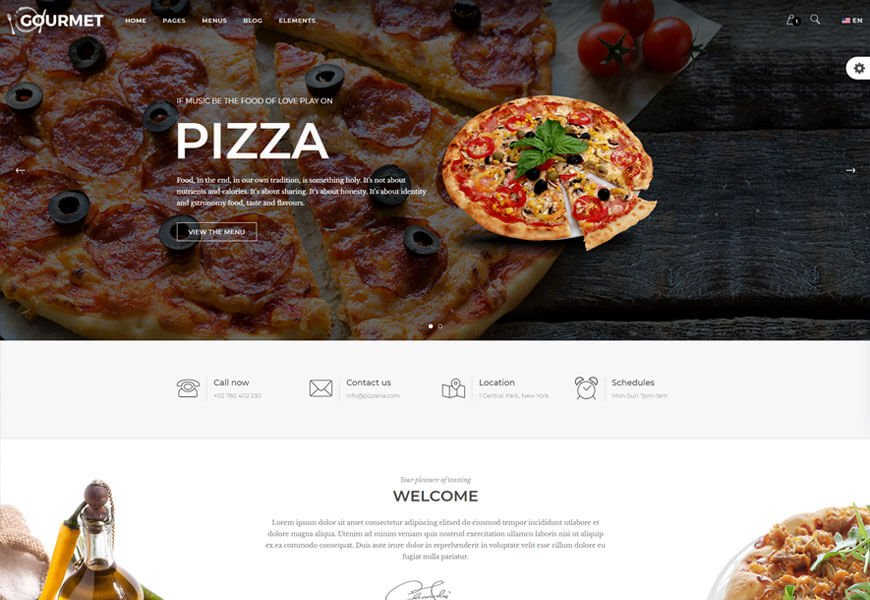 best pizza website templates