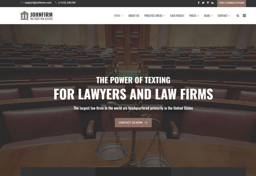 johnfirm is best law office website templates