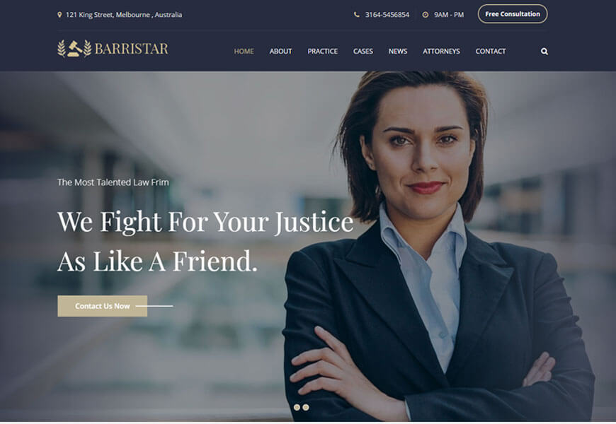 jurista one of the good lawyers website templates
