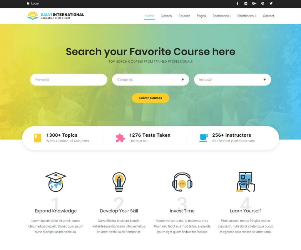 Kalvi is a highly responsive online course WordPress theme