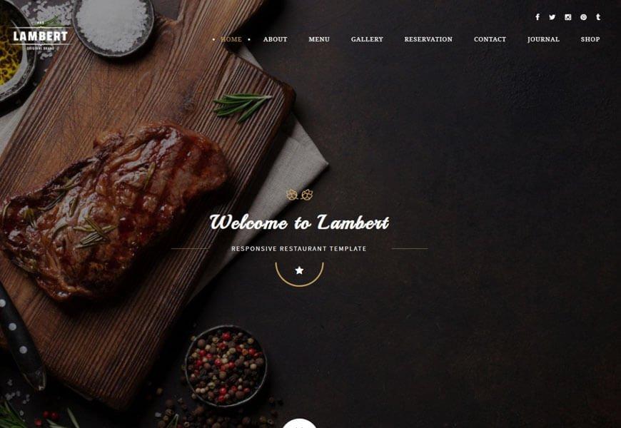 lambert restaurant website templates