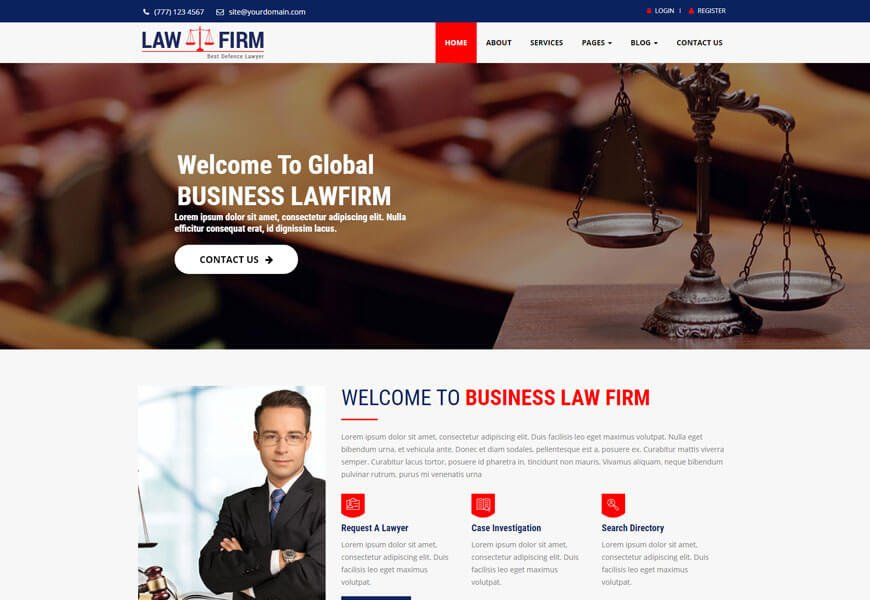 law firm website html templates