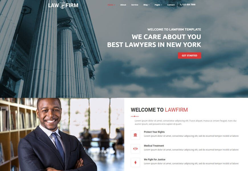create law firm website using law firm website templates