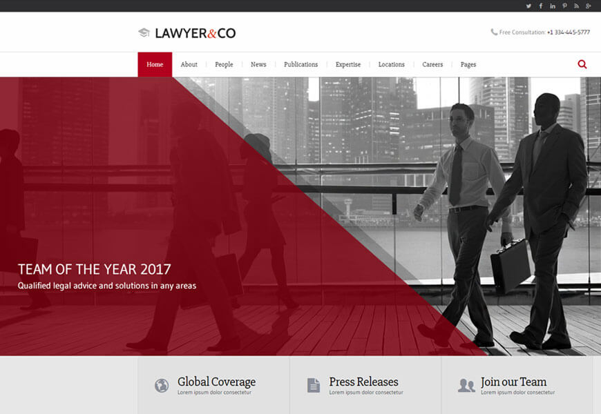 best website templates for law offices
