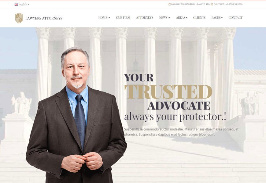 best attorneys website templates