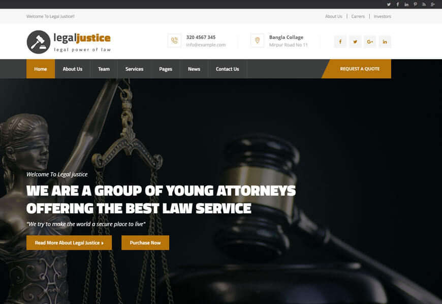 nice website templates for law office
