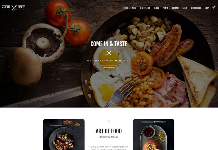 restaurant and cafe website templates