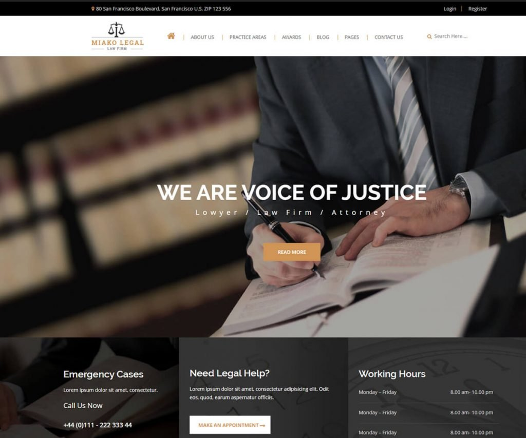 best lawyers and law firm website templates
