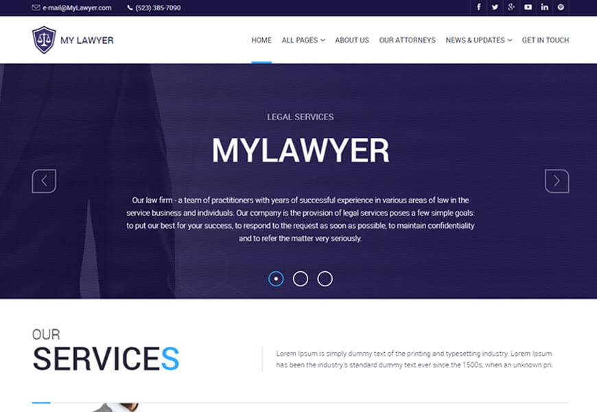 lawyers and law office website templates