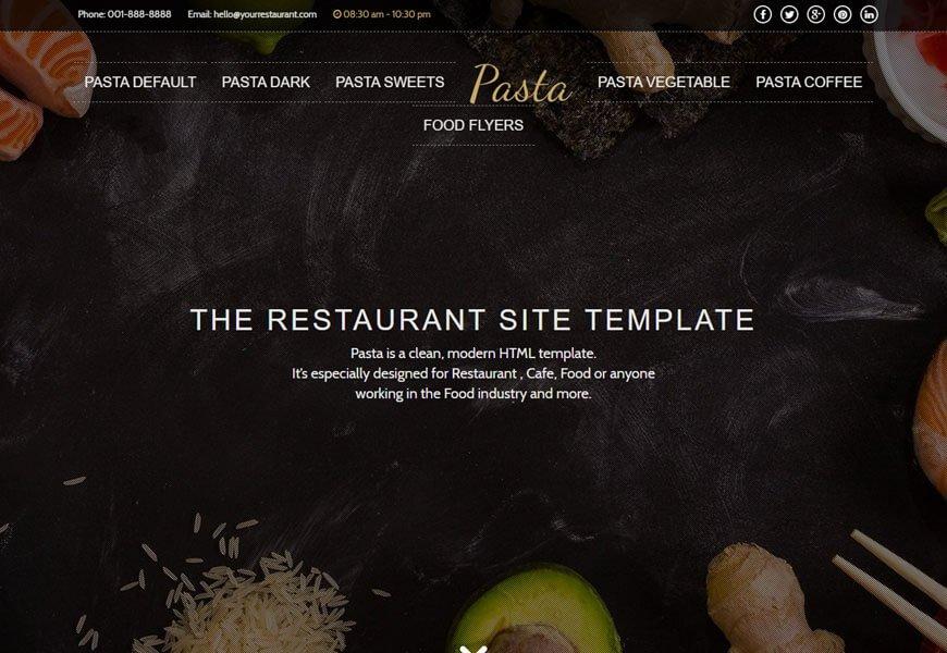 Pasta restaurant website templates