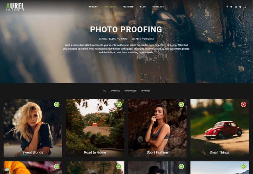 nice design photography website templates