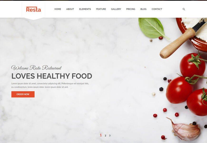 Resta restaurant website templates