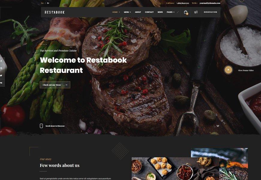 restaurant website templates with online ordering