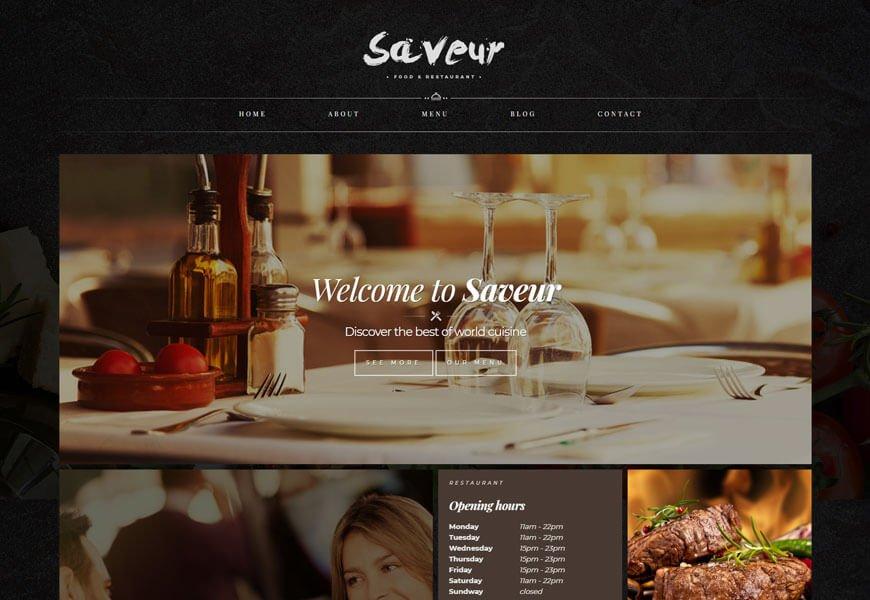 fine restaurant website templates