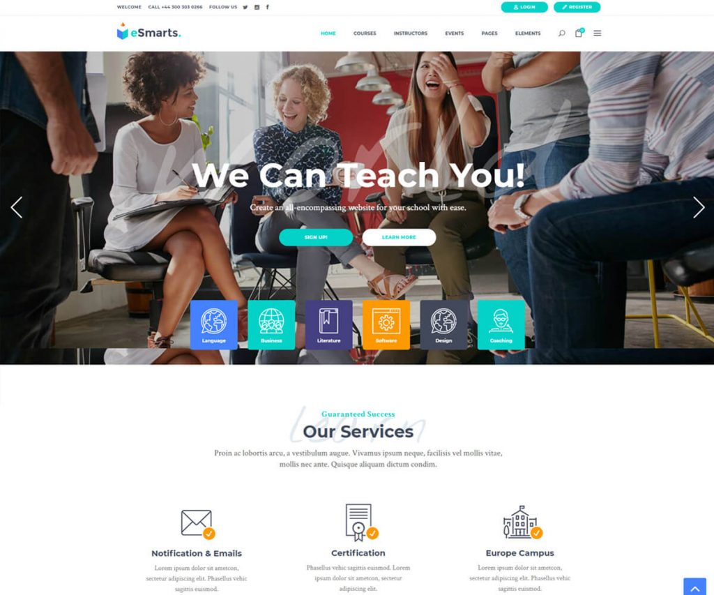 lms WordPress theme for making learning website