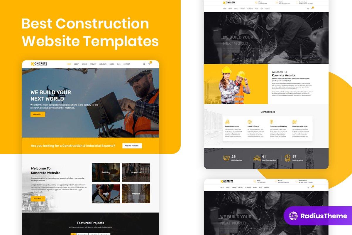 Best Construction Website Templates