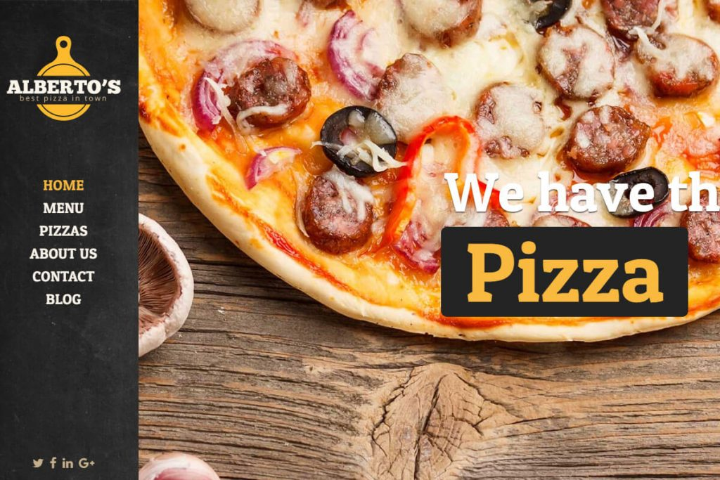 pizza website templates