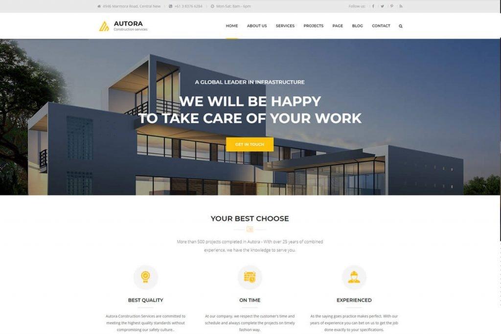 Nice construction website templates