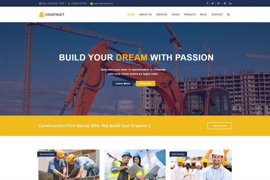 construct website html templates