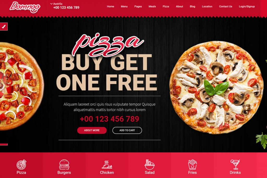 pizza website template bootstrap