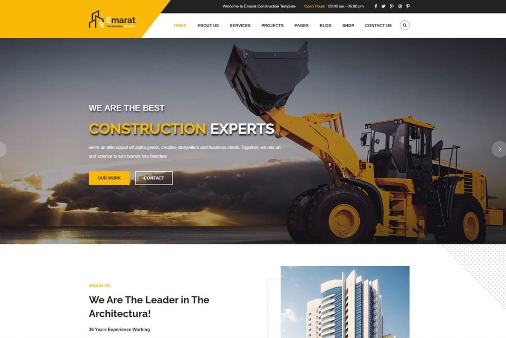 Emarat is an HTML template specially designed for house construction