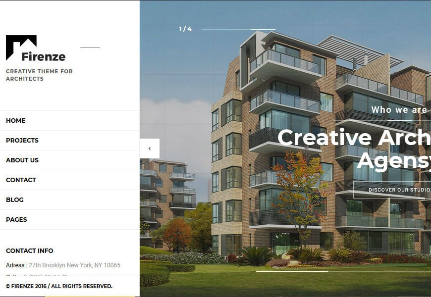 Firenze is a perfectly crafted architecture website design templates