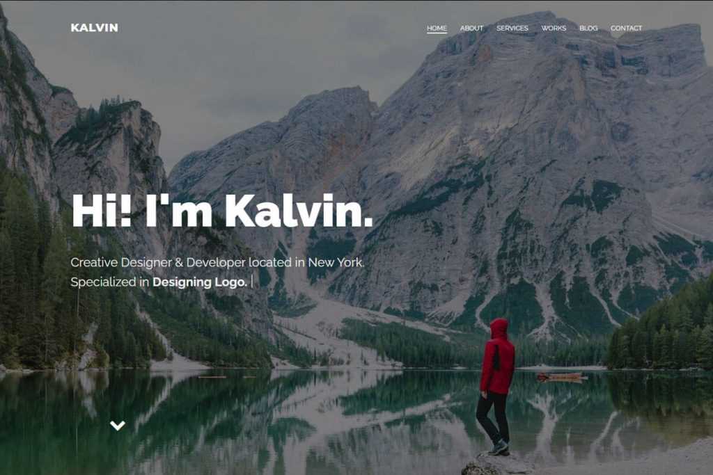 personal portfolio website template