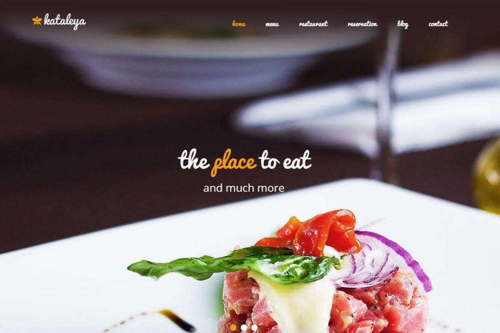 Kataleya is a clean pizza shop website template
