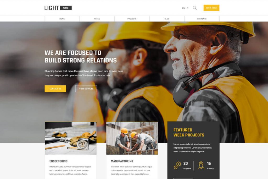 another best construction company website templates