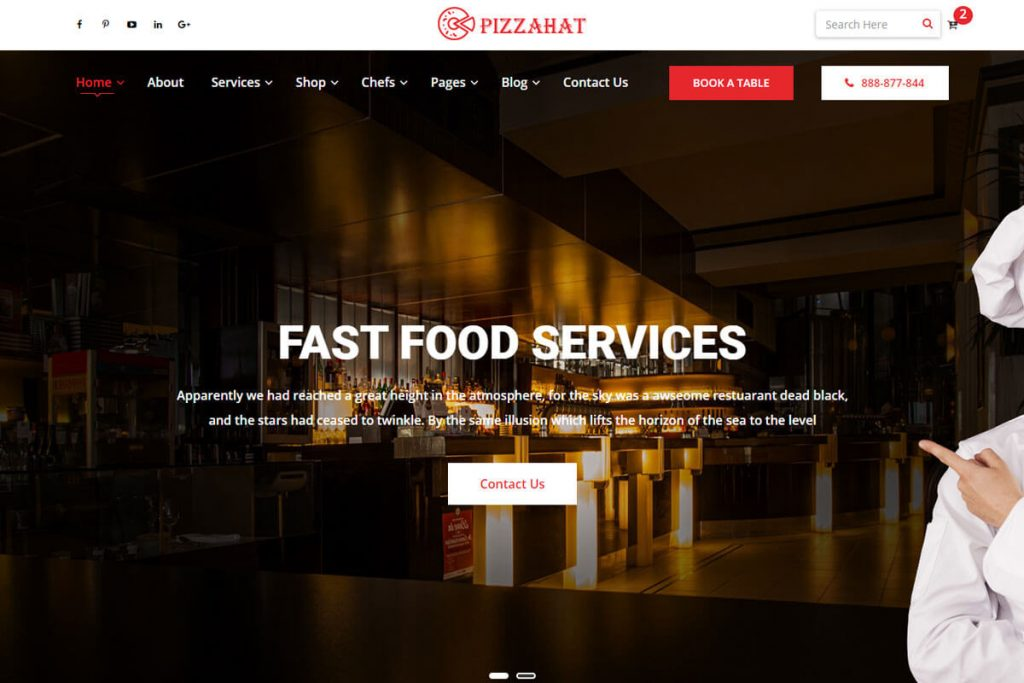 pizzahat another best pizza website templates