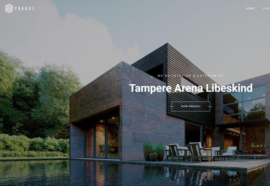 Prague is a standout architecture website templates
