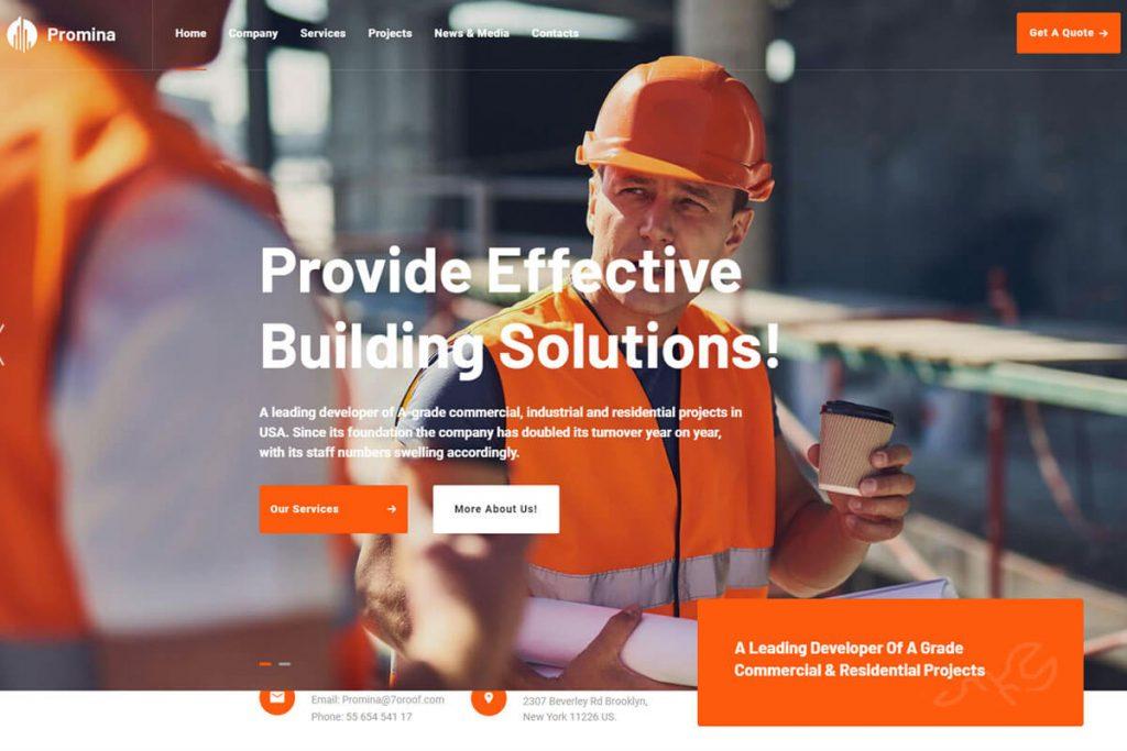 Promina  construction website templates
