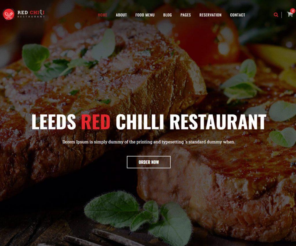 pizza restaurant website templates
