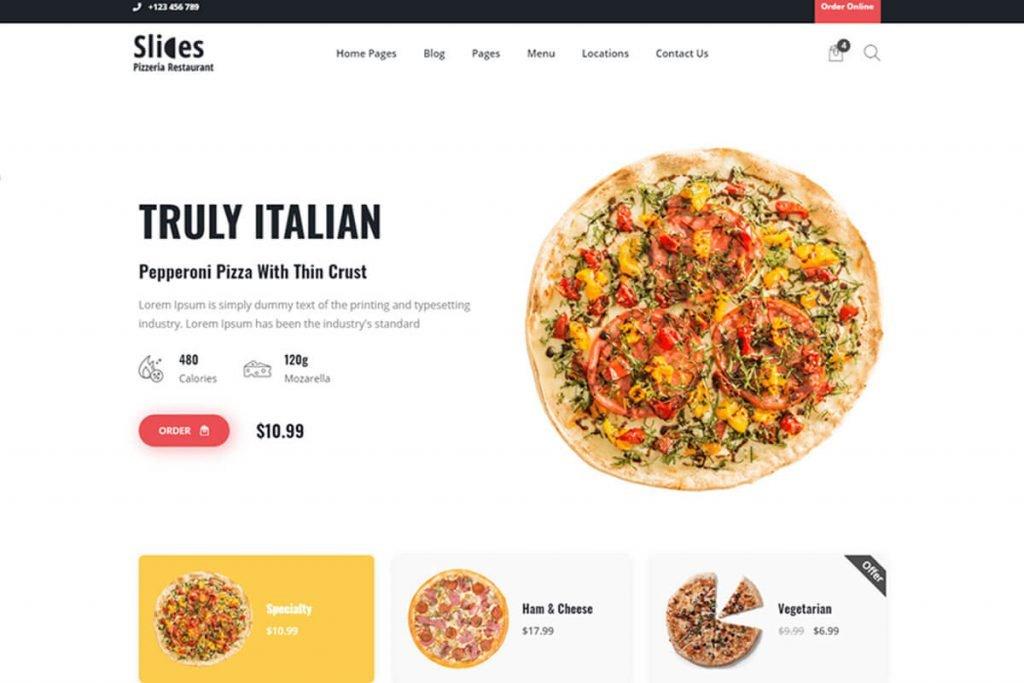 pizza shop website template