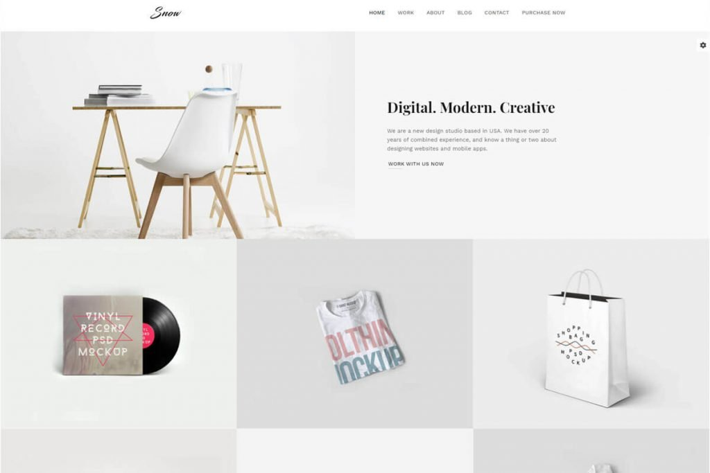 minimal Bootstrap personal website templates