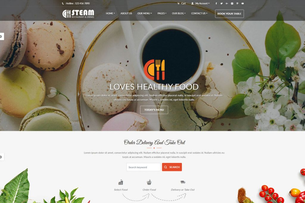 Spice 'n' Steam is a nice pizza shop website template