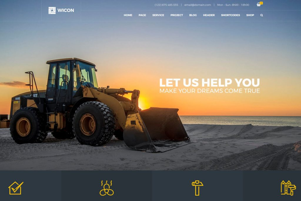 Wicon is an ever-developing and fully responsive construction website templates