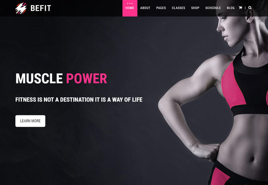 gym fitness website html templates