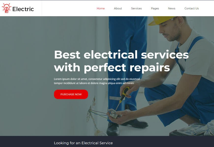 electrical contractor website templates